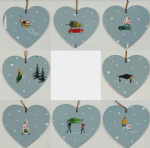 10cm Hanging Heart Decoration in Sophie Allport Home For Christmas